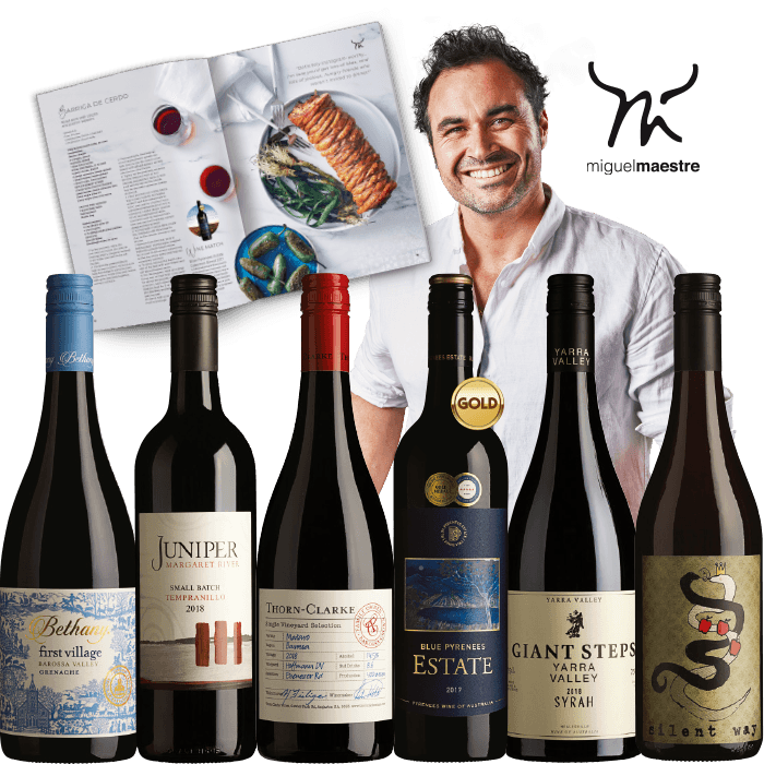 THE CHEF COLLECTION WITH MIGUEL MAESTRE RED 6-PACK $120.00 RRP $203.50