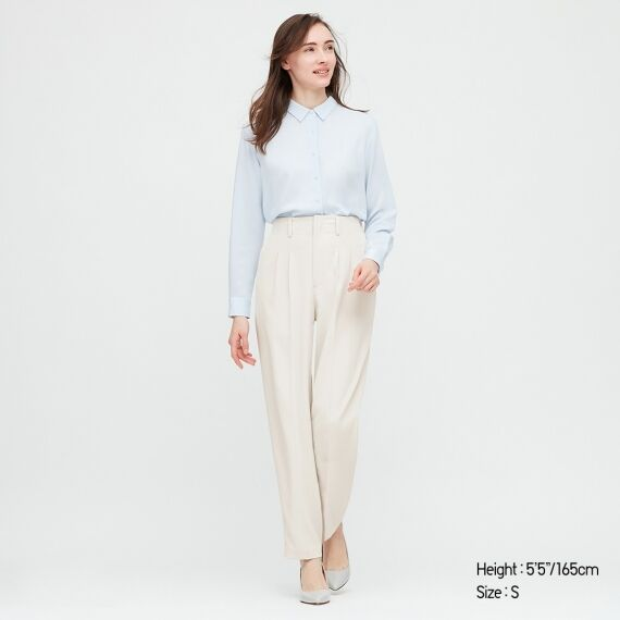 WOMEN Drape Relaxed Tapered Ankle Pants $19.90 was $49.90