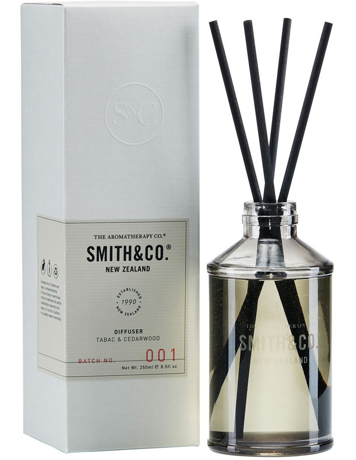 The Aromatherapy Company Smith & Co Diffuser 250ml Tabac & Cedarwood $31.96 was $39.95