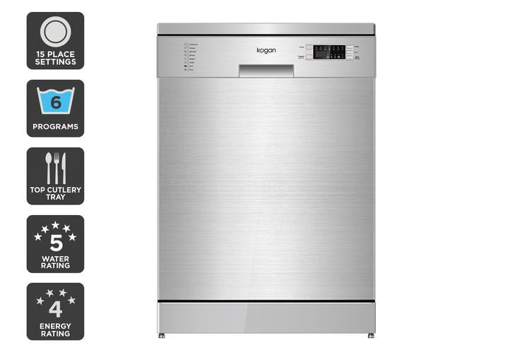 Kogan Series 9 Freestanding Dishwasher (Stainless Steel) with Top Cutlery Tray $449 was $899.99 (Save 50%)