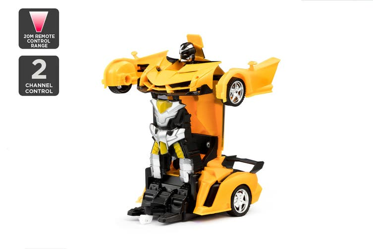 2-in-1 Remote Control Transforming Car (Yellow) $29.99 was $49.99 (Save 40%)