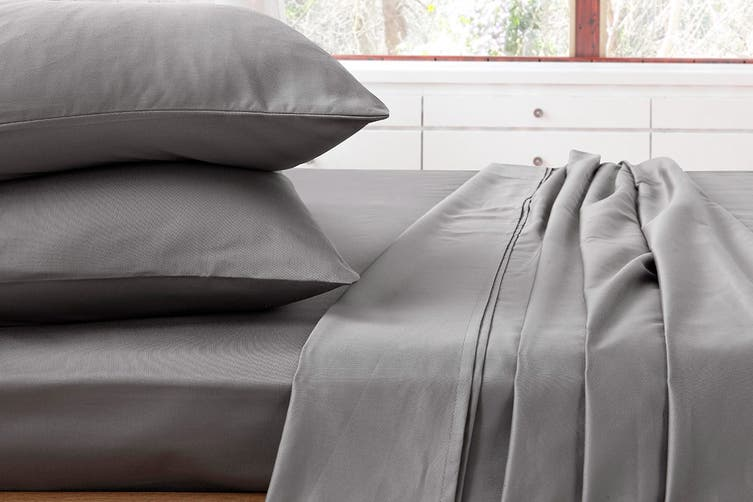 Ardor 1000TC Luxury Sheet Set (Queen, Charcoal) $29 (RRP$199)