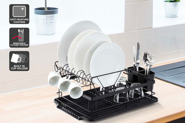 Ovela 2 Tier Dish Drainer Rack With Cutlery Holder $29.99 Was $49.99 (Save 40%)