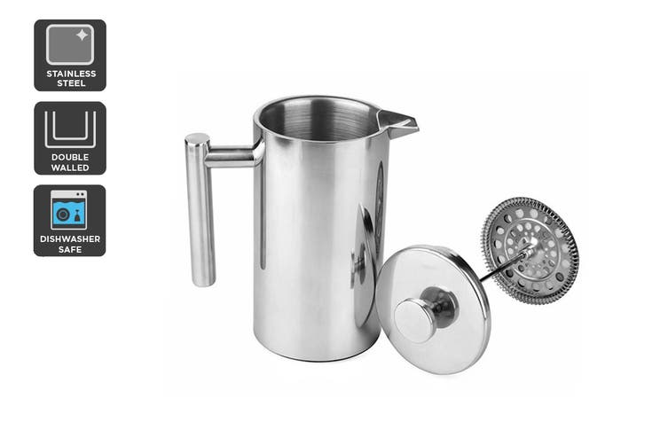 Ovela Stainless Steel Double Wall Coffee Plunger 350ML $29.99 was $59 (Save 49%)