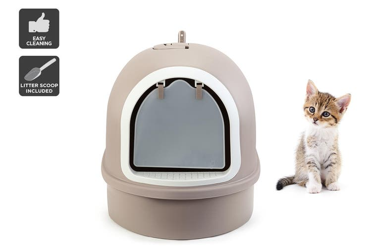 Pawever Pets Cat Litter Box with Scoop $35.99 was $99.99 (Save 64%)