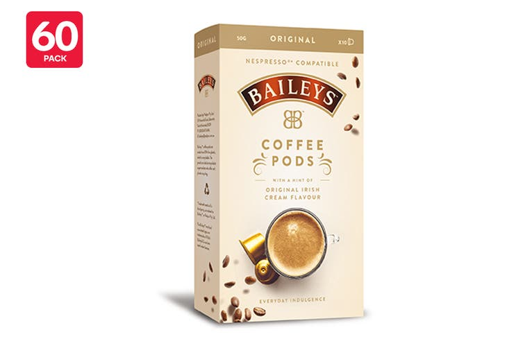 60 Pack Baileys Original Nespresso Compatible Coffee Pods $25 Was $39 (35% off)