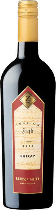 Z Wines Section 3146 Barossa Shiraz 2016 x12 $289.00 + DELIVERY Save $131.00 PER CASE