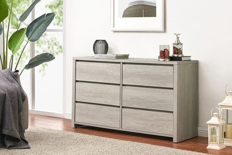 Shangri-La Chest of 6 Drawers – Alta Collection (Dusky Oak) $199 was $369.99 (Save 46%)
