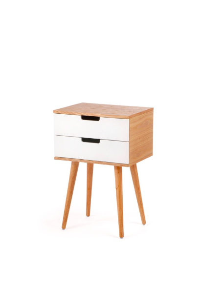 Cooper & Co. Living Louis 2 Drawer Side Table Natural & White $99 (Don't pay $128.95)