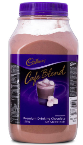Cadbury Cafe Blend Premium Drinking Chocolate 1.75kg $19.99 (Don't pay $41.08)
