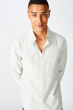 Textured Long Sleeve Shirt $20.00 was $39.99 (50% off)