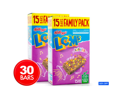 2 x LCMs Kaleidos Bars Value Pack 15pk 330g $6 (Don't pay $12)