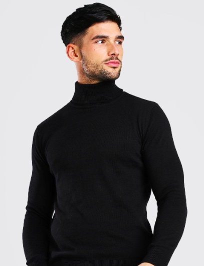Regular Fit Roll Neck Sweater $20.00 was $40.00