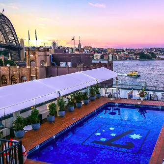 Rydges Sydney Harbour Sydney Harbour-View Stay with Bottle of Sparkling Wine 2, 3 or 4 Nights From $249 /room Valued up to $580