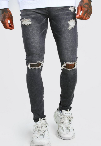 Super Skinny Jeans With Distressing $28.50 was $57.00