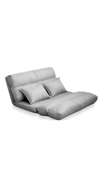 Artiss Lounge Sofa Bed Floor Recliner Chaise Folding Linen Farbric $179.48 was $292.49