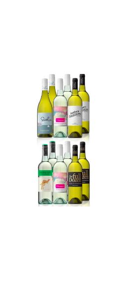 Australian Mixed White Wine Carton Featuring Yellow Tail Pinot Grigio (12 Bottles) $79 (Don't pay $240)