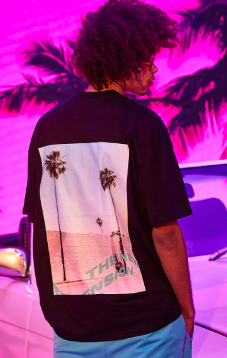 Oversized Palm Front And Back Print T-shirt $16.00 was $32.00