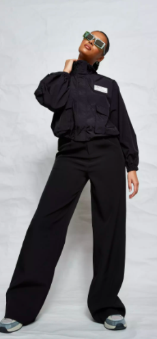 black co ord missguided nylon technical cropped hooded jacket $45.99 was $91.99