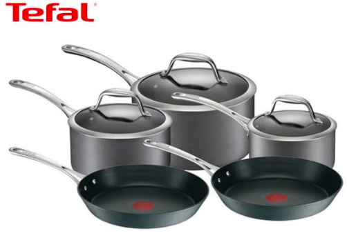 Tefal 5-Piece Gourmet Anodised Induction Cookware Set $199 (Don't pay $499.95)