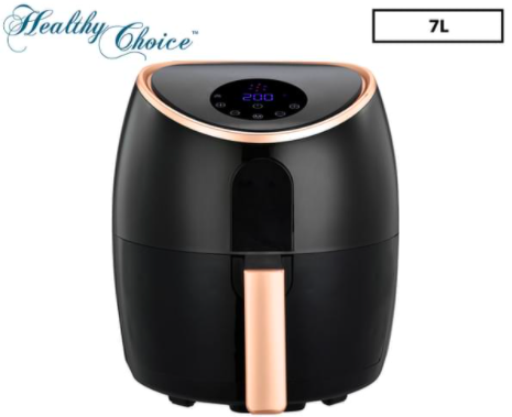 Healthy Choice 7L Digital Airfryer – Black/Rose Gold $87 (Don't pay $199.95 )