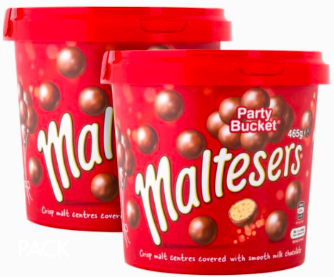 2 x Maltesers Party Bucket 465g $22