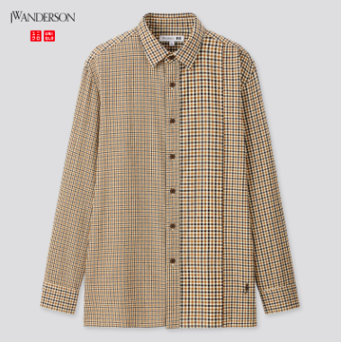 MEN JW Anderson Flannel Checked Long Sleeve Shirt $ 49.90