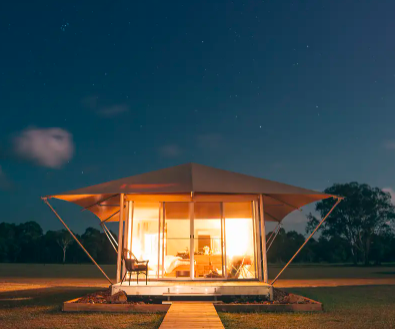 Habitat Noosa Ecocamp Award-Winning Noosa Eco-Glamping Escape with Lake Cruise & Nightly Drinks 3 to 10 nights from $529 Incl. taxes & fees Valued up to $935