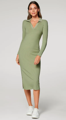 Skip to the beginning of the images gallery Parker Long-Sleeve Rib Polo Dress $49.95 was $99.99
