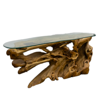 Solid Teak wood Console With Glass Top $2,699.10 was $5,998.00