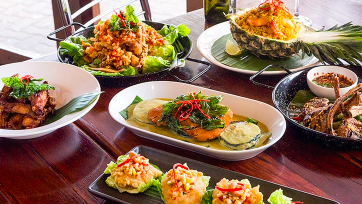 Credit for Thai Cuisine and Drinks by Brighton-Le-Sands Beach $29 VALUED AT $40 SAVE 28% OFF