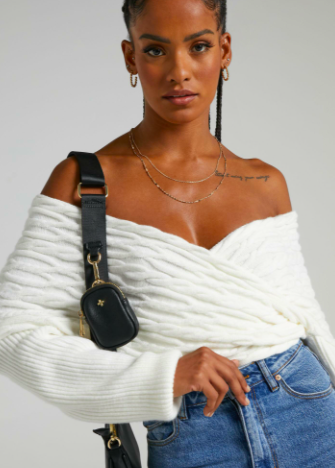 TWILAH JUMPER IN WHITE $32 WAS $64.95