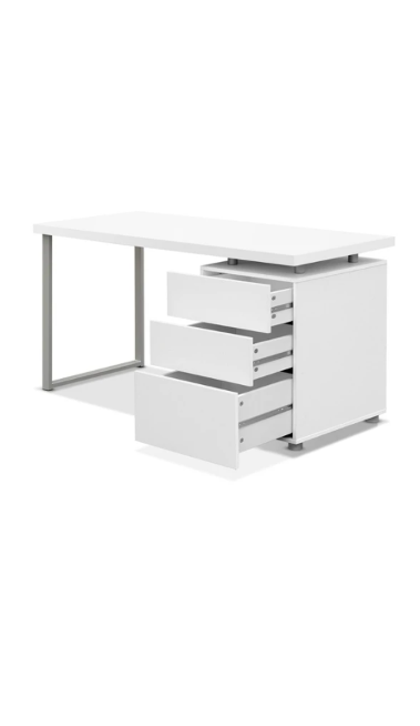 Artiss Metal Desk with 3 Drawers – White $211.28 was $489.95