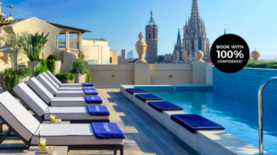 H10 Madison Award-Wining Escape in Barcelona's Gothic Quarter with City-View Rooftop Bar & Pool 3 to 21 nights from $649 Incl. taxes & fees Valued up to $968