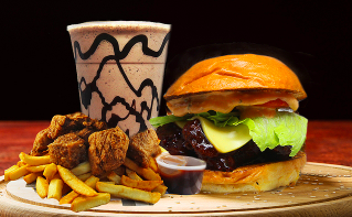 Burger and Nugget Feast or Credit to Spend on Catering – Available at Four Locations $15 VALUED AT $35 SAVE 57% OFF