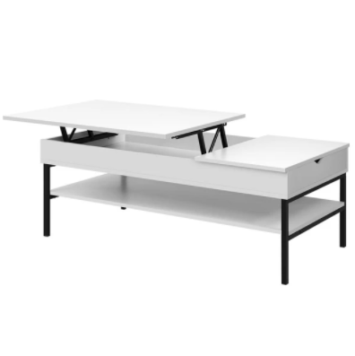 Artiss Lift Up Top Coffee Table Wooden Tables Hidden Book Storage Drawers 120CM $199.57 was $349.95