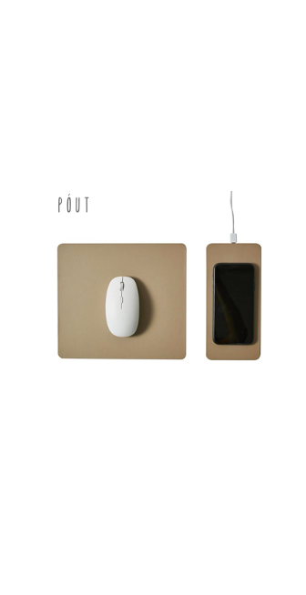 Pout Hand 3 Split 15W Detachable Fast Wireless Charging Mouse Pad – Latte Cream $39.99 was $49.99 (20% OFF)