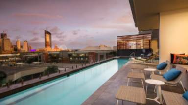 Arise Ivy & Eve Apartments Stylish South Brisbane Apartment Escape with Glass-Edge Pool & Daily Breakfast 2 to 10 nights from $299/room Incl. taxes & fees Valued up to $662
