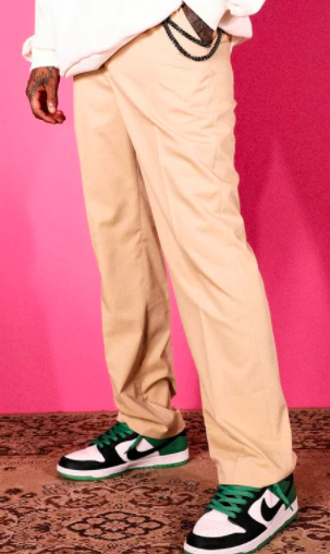 Relaxed Tailored Trousers With Chain $35 was $70 (50% OFF)