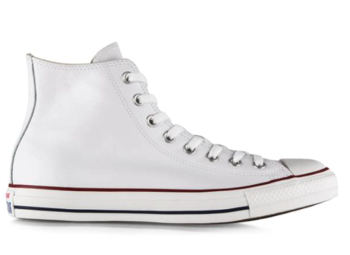 Converse Unisex Chuck Taylor All Star High Top Leather Sneakers – White $89.99 (Don't pay $130)