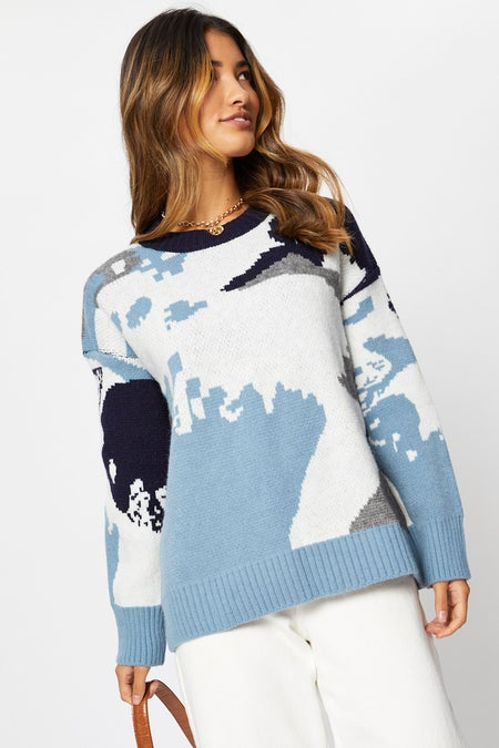 Abstract Knit Jumper $36.79 was $45.99