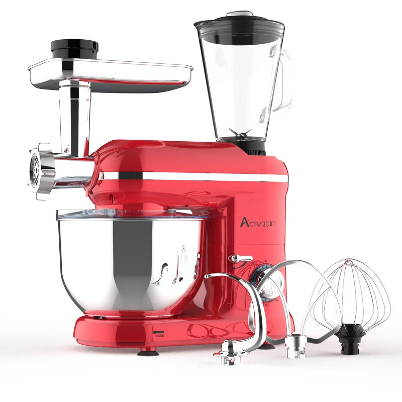 6-Speed Electric Stand Mixer w/ Accessories 1100W 4.5L in Red $125.90 RRP $238.30 (SAVE 47%)