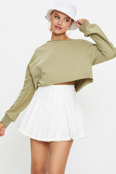 Cropped Sweat Jumper $25.99 was $39.99