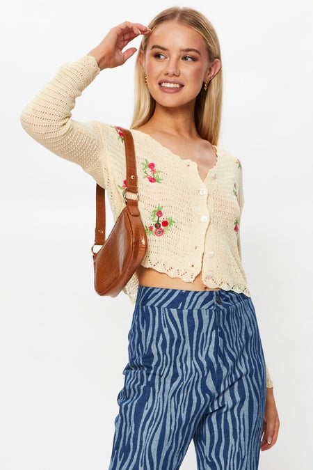 Embroidered Cardigan $25.99 was $61.49