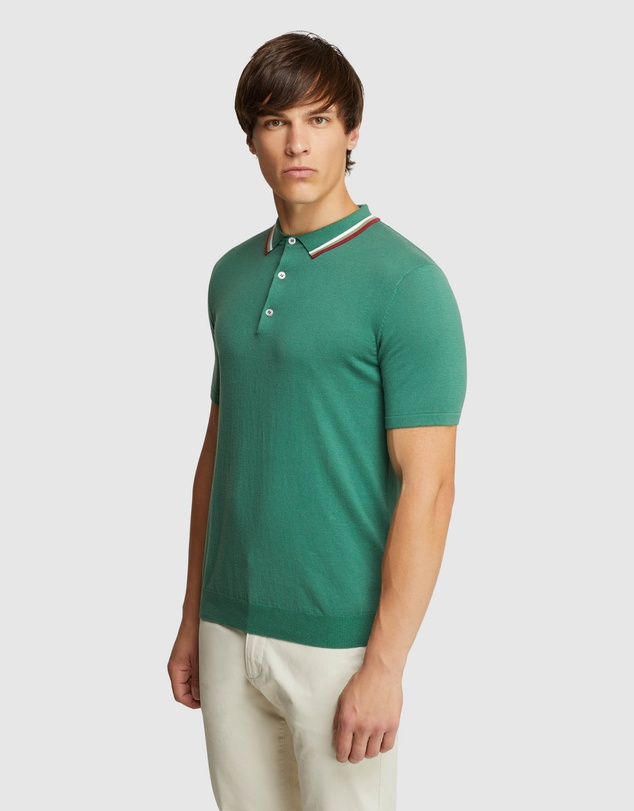 OXFORD Newton Knitted Cotton Polo $99 WAS $129 (30% OFF AT CHECKOUT)