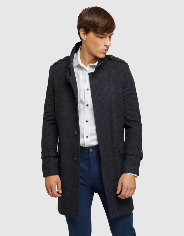 OXFORD Roger Check Overcoat $159 was $499 (30% OFF AT CHECKOUT)