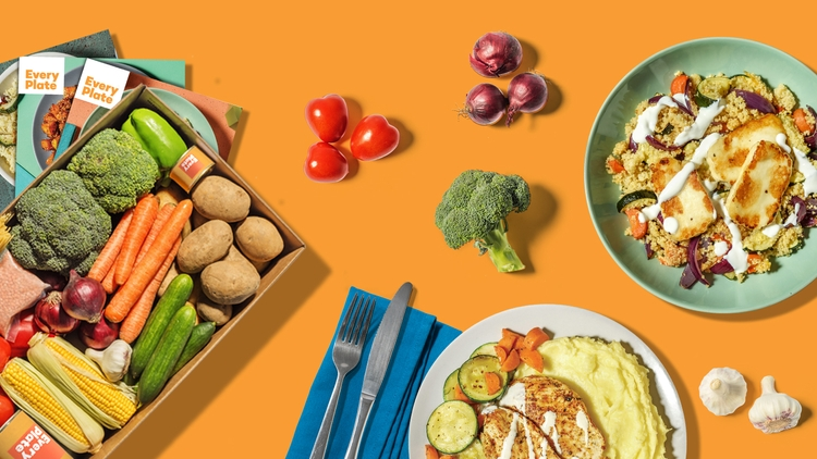 Fresh, Easy and Delicious EveryPlate Meal Kits $34.99 VALUED AT $57.91 SAVE 40% OFF