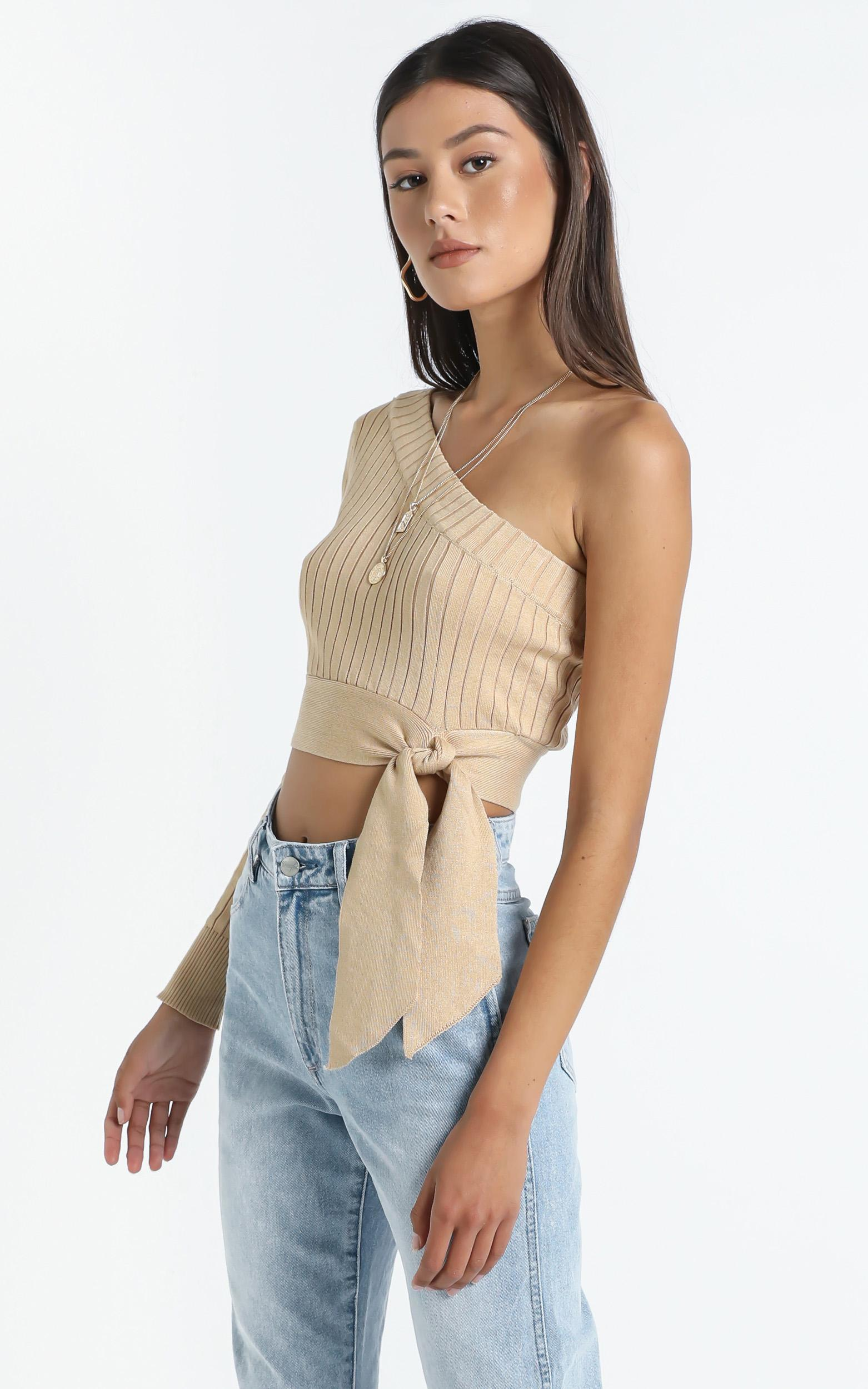 KAYDEE TOP IN BEIGE $35.00 was $49.95