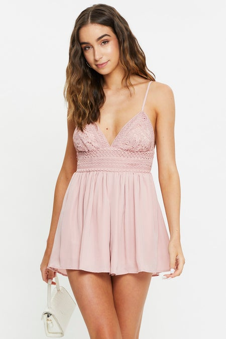 Lace Body Playsuit $39.97 was $61.49