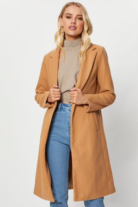 Long Sleeve One Button Classic Coat $52.79 was $65.99